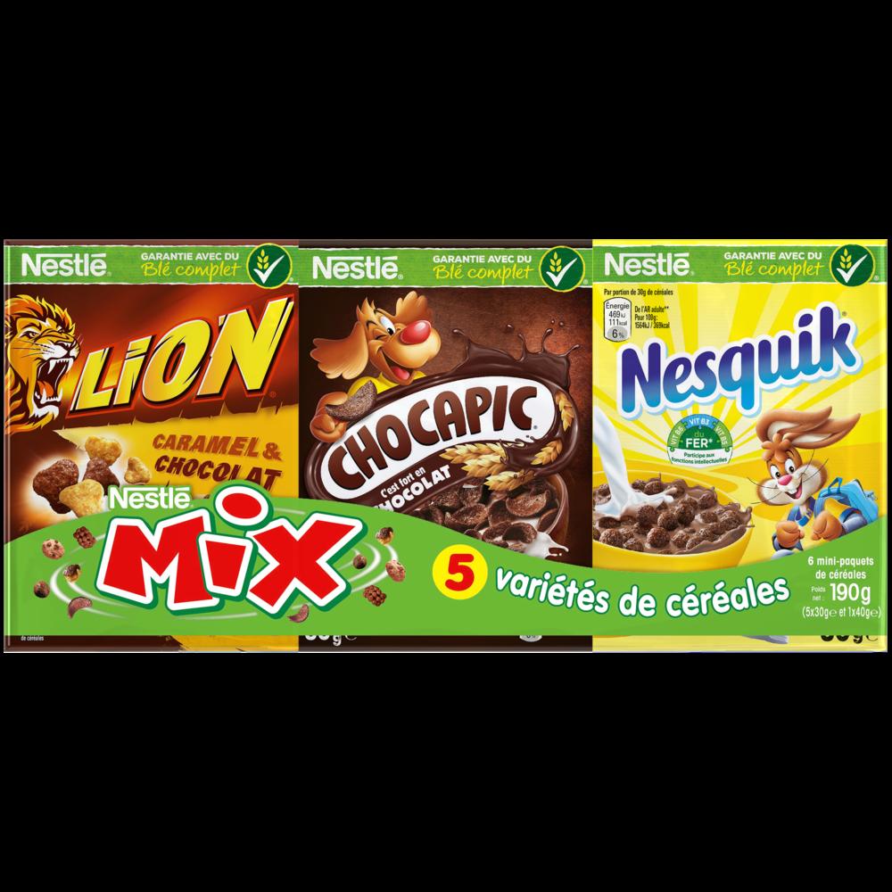 Assortiment de céréales Mix, Nestlé (5 x 30 g + 1 x 40 g)