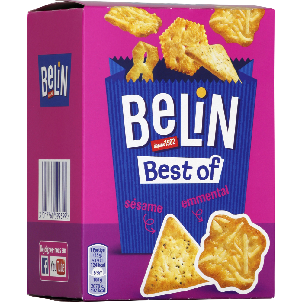 Assortiment de crackers apéritif Best Of, Belin (90 g)