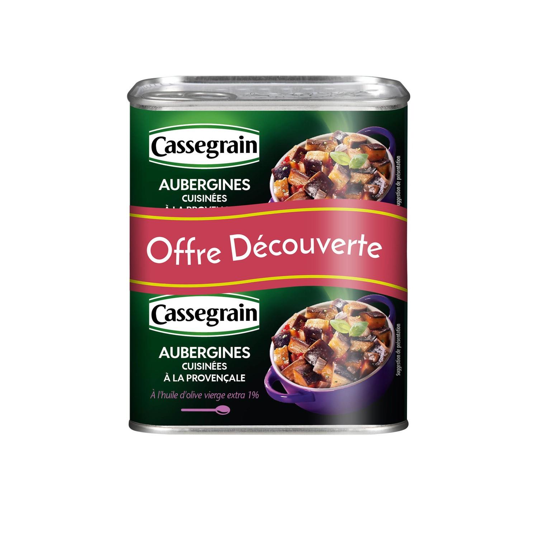 Aubergines à la provençale LOT DE 2, Cassegrain (2 x 375 g)