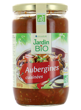 Aubergines cuisinées BIO, Jardin Bio (650 g)