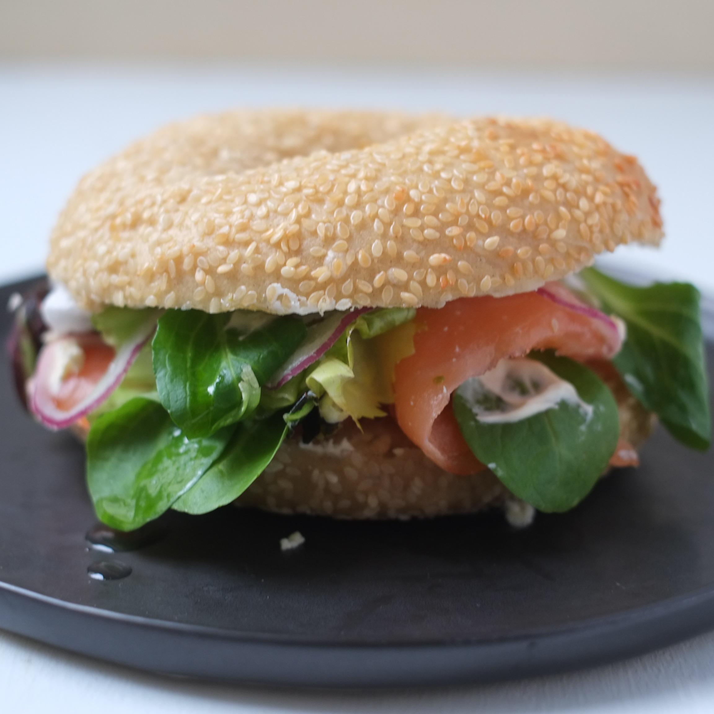 Bagel au saumon fumé Rachel's Cake (36h à l'avance)