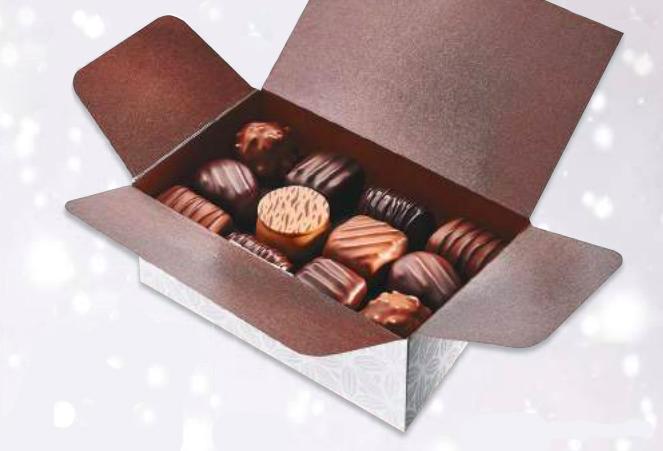 Ballotin de chocolats assortis, chocolaterie Schaal (350 g)