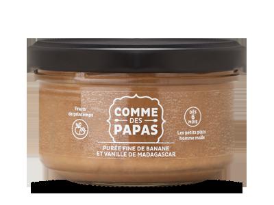 Purée fine de banane et vanille de madagascar BIO - 6 mois, Comme des Papas (130 g)
