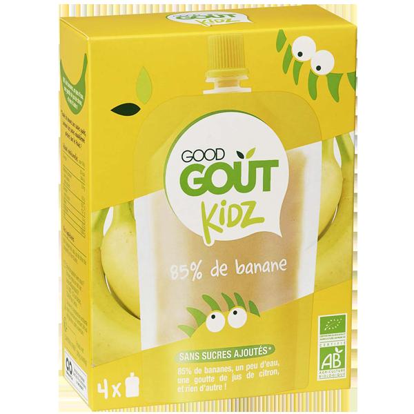 Gourdes banane BIO - dès 3 ans, Good Goût Kid'z (4 x 90 g)