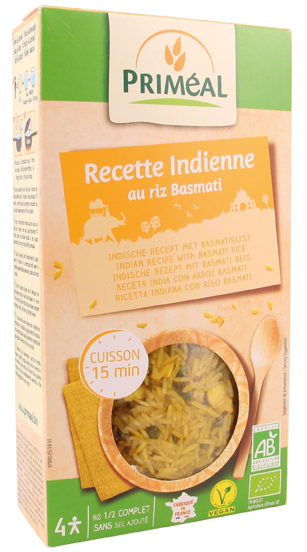 Riz basmati recette indienne, Priméal (250 g)