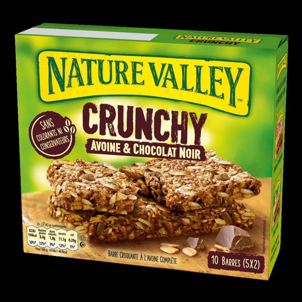 Barre Crunchy avoine et chocolat noir, Nature Valley (5 x 42 g)
