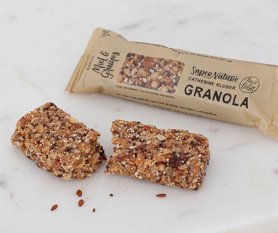 Barre Granola au miel et aux graines BIO, SuperNature (x 3)