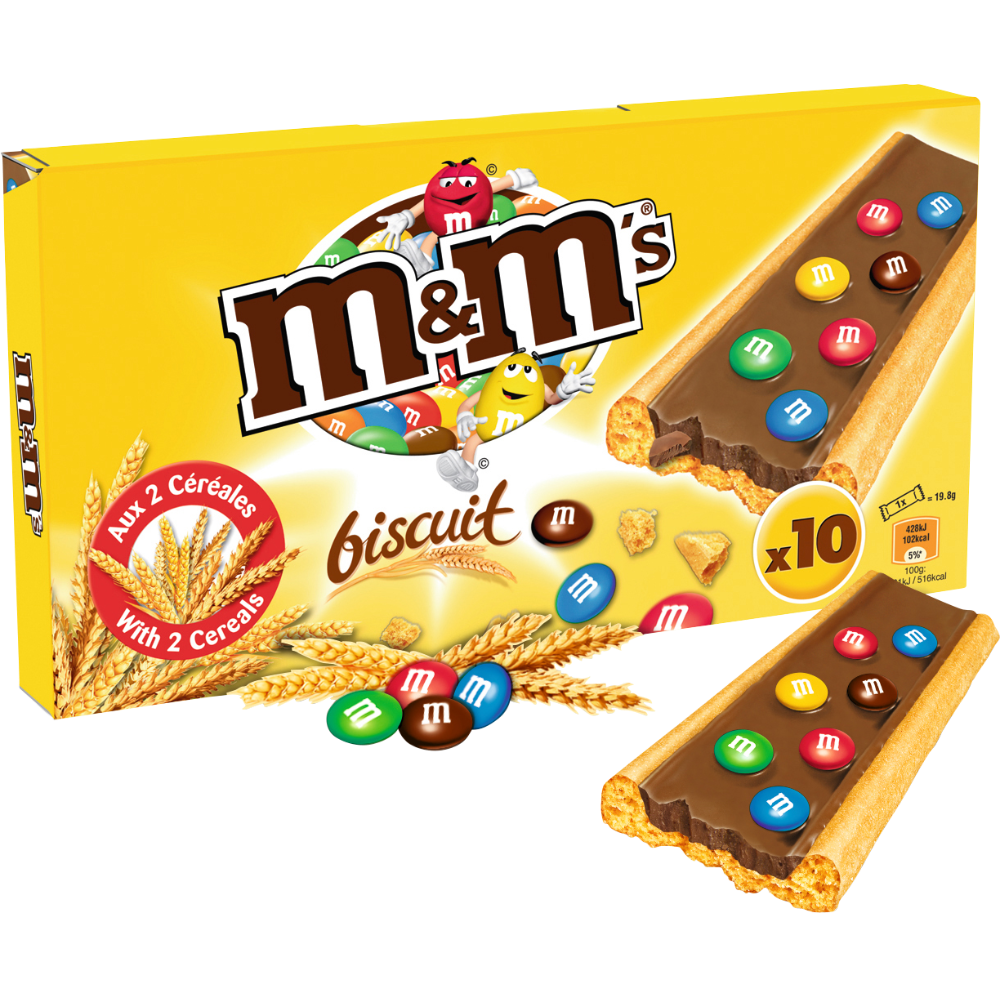 Barres chocolatées, M&M's (198 g)