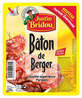 Rondelles de Bâton de berger, Justin Bridou (120 g)