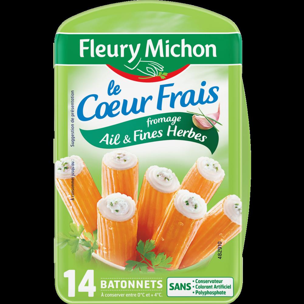 Bâtonnets de surimi au fromage ail et fines herbes, Fleury Michon (x 14, 224 g)