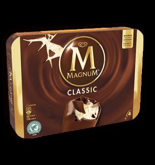 Magnum Classic Vanille/Chocolat, Miko (x 4)