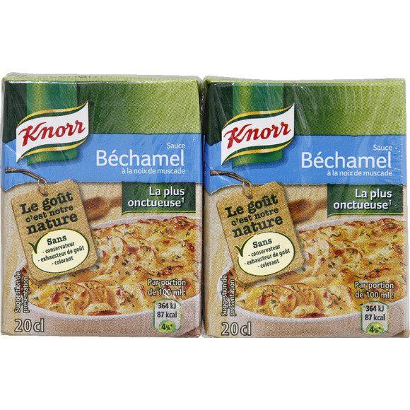 Sauce béchamel à la noix de muscade, Knorr (2 x 20 cl)