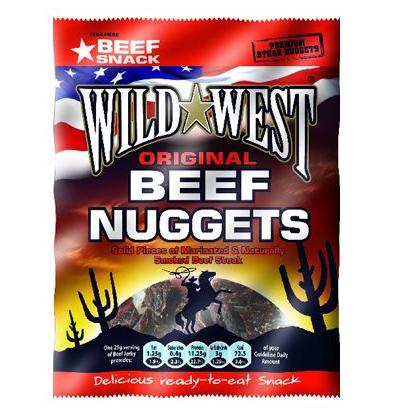 Viande de boeuf séchée en morceaux - Beef Nuggets, Wild West (25 g)