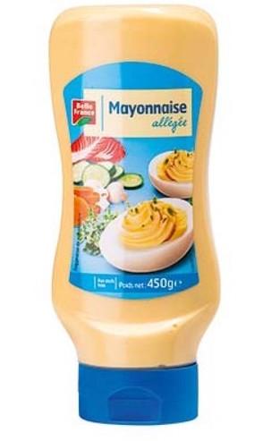 Mayonnaise nature allégée Top Down, Belle France (450 g)