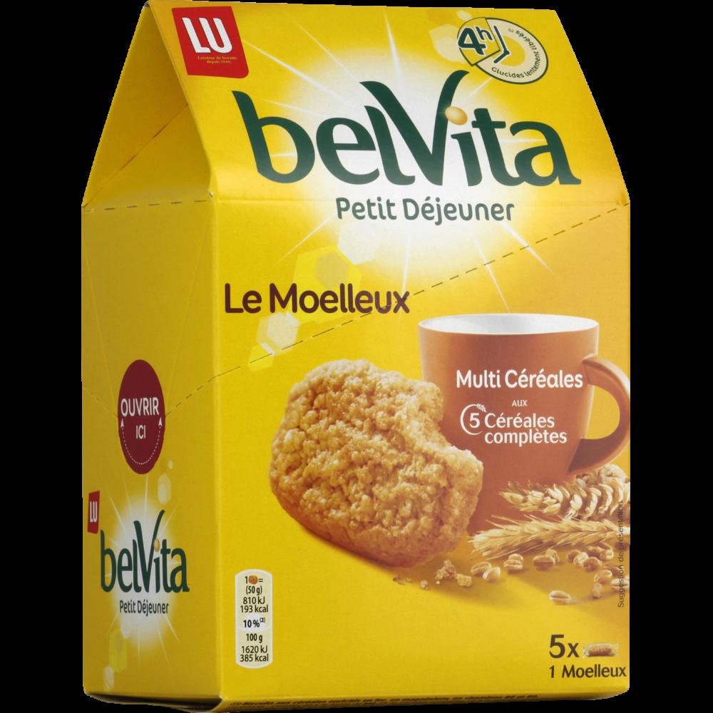Belvita Petit déjeuner Le Moelleux nature, Lu (250 g)