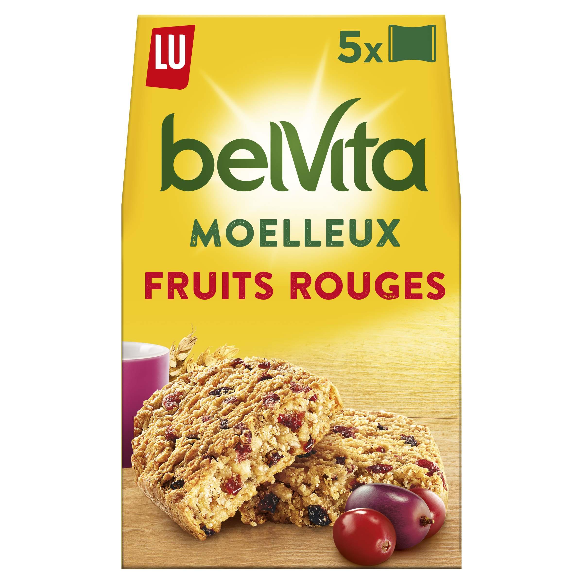 Belvita Petit déjeuner Le Moelleux fruits rouges, Lu (250 g)