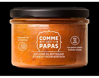 Betterave et boeuf façon bortsch BIO - 12 mois, Comme des Papas (200 g)