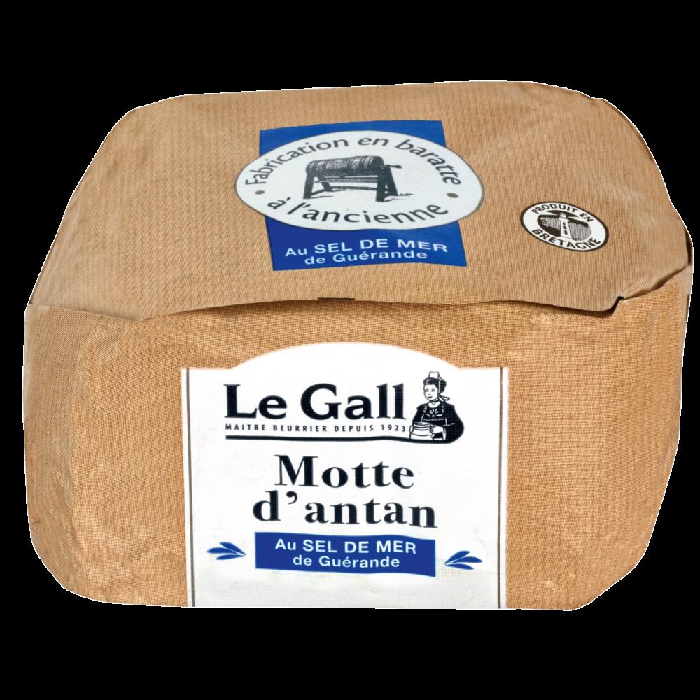 Beurre de baratte motte d'antan aux cristaux de sel de Guérande, Le Gall (250 g)