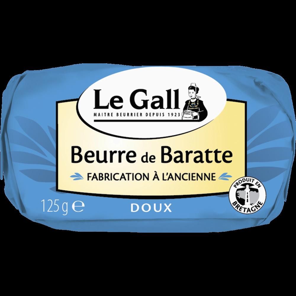Beurre doux de baratte tradition, Le Gall (125 g)