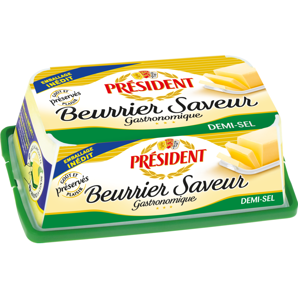 Beurre demi-sel Beurrier saveur, Président (225 g)