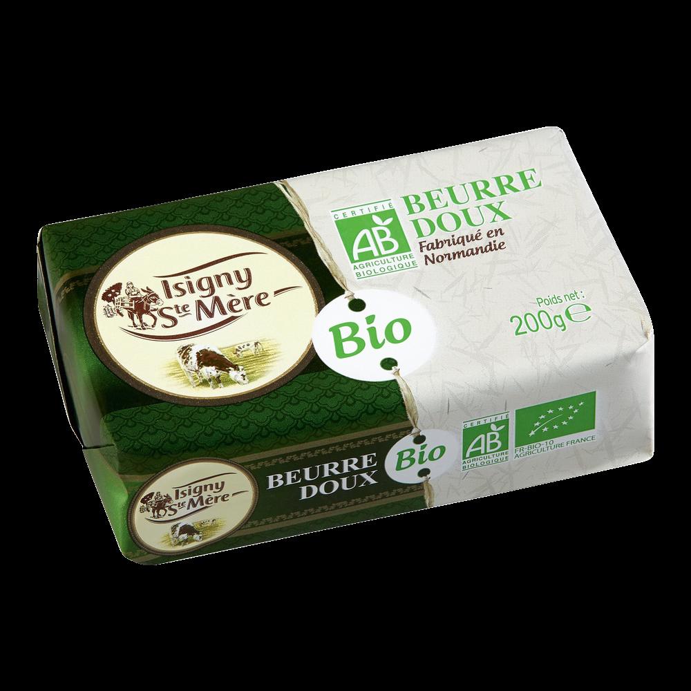 Beurre doux BIO, Isigny Ste Mère (200 g)