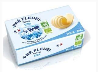 Beurre doux BIO, Pré Fleuri (250 g)