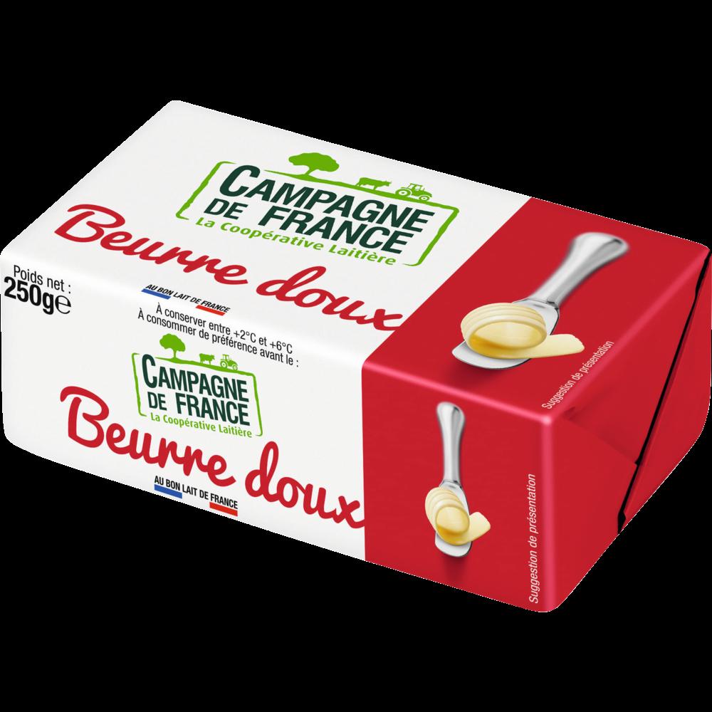 Beurre doux, Campagne de France (250 g)