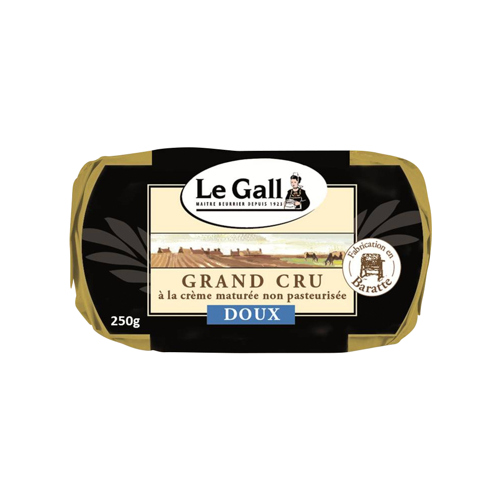 Beurre doux de baratte cru, Le Gall (250 g)
