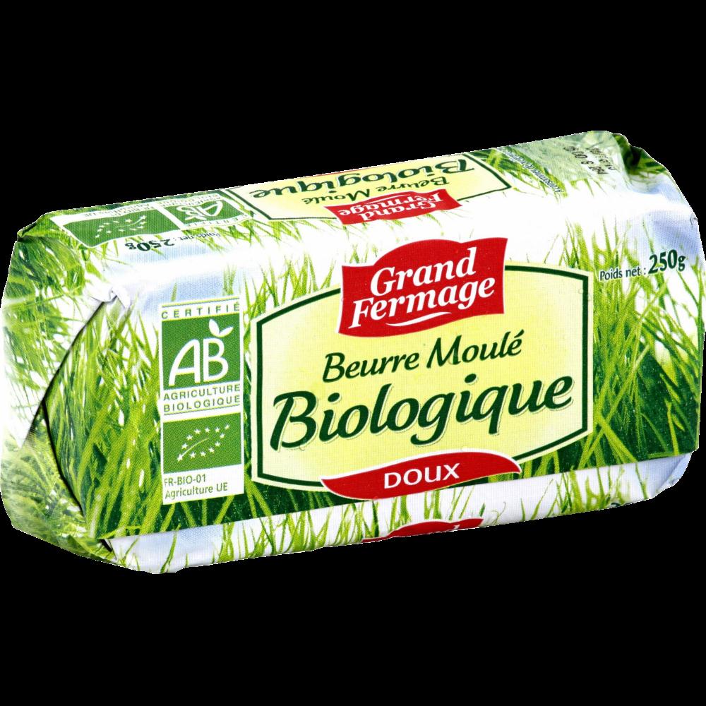 Beurre doux moulé BIO, Grand Fermage (250 g)