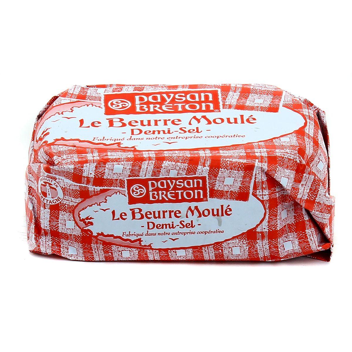 Beurre moulé demi sel, Paysan Breton (250 g)
