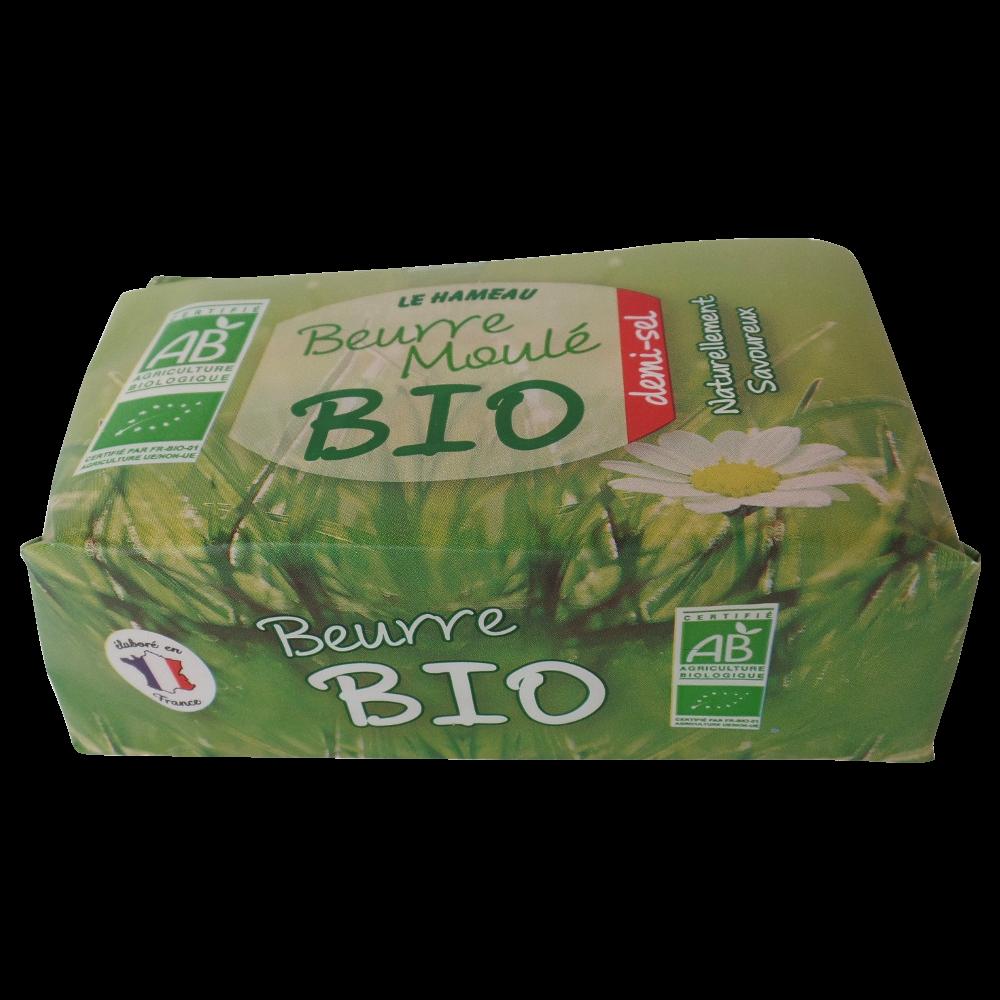 Beurre moulé demi-sel BIO, Le Hameau (250 g)