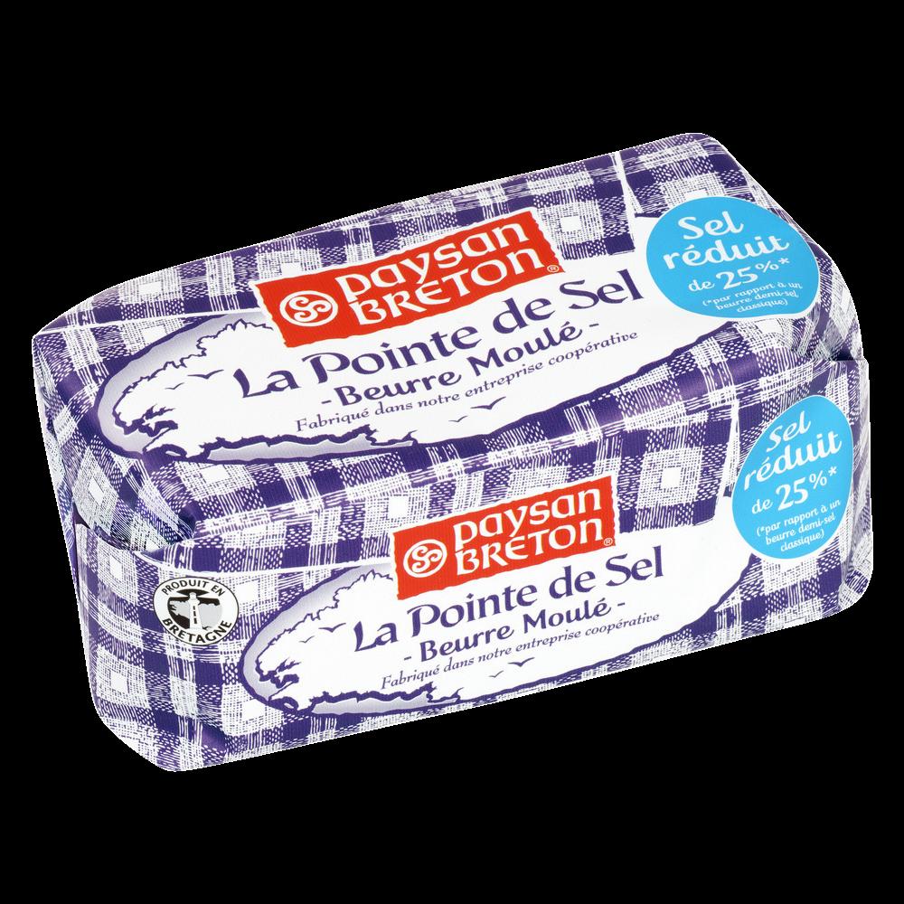 Beurre moulé à la pointe de sel, Paysan Breton (250 g)