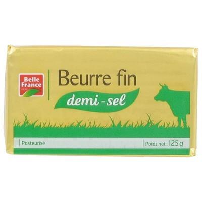 Beurre fin demi sel, Belle France (125 g)
