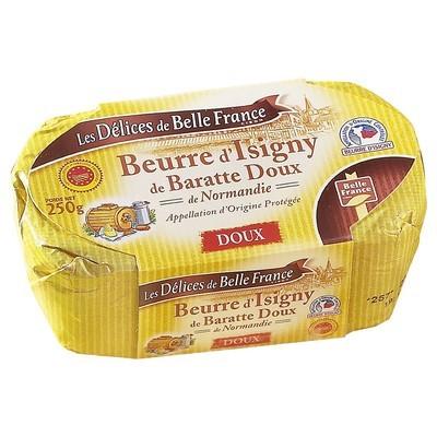 Beurre doux de baratte moulé d'Isigny, Délices de Belle France (250 g)