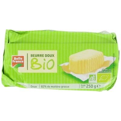 Beurre doux moulé BIO, Belle France (250 g)