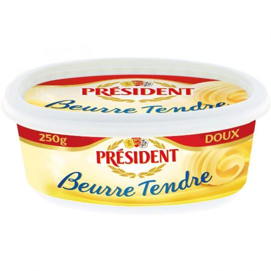 Beurre doux tendre, Président (250 g)