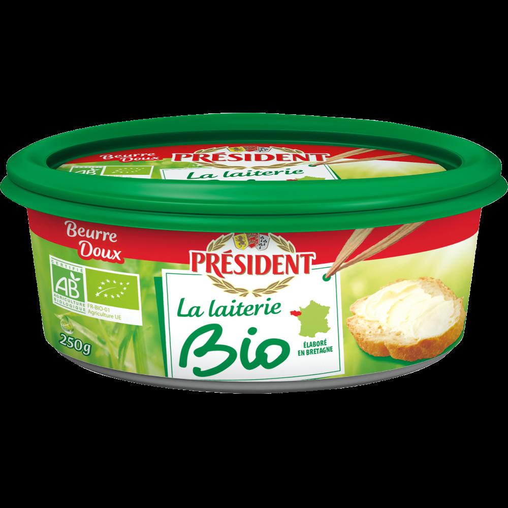 Beurrier doux La laiterie BIO, Président (250 g)