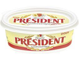 Beurre doux beurrier, Président (250 g)