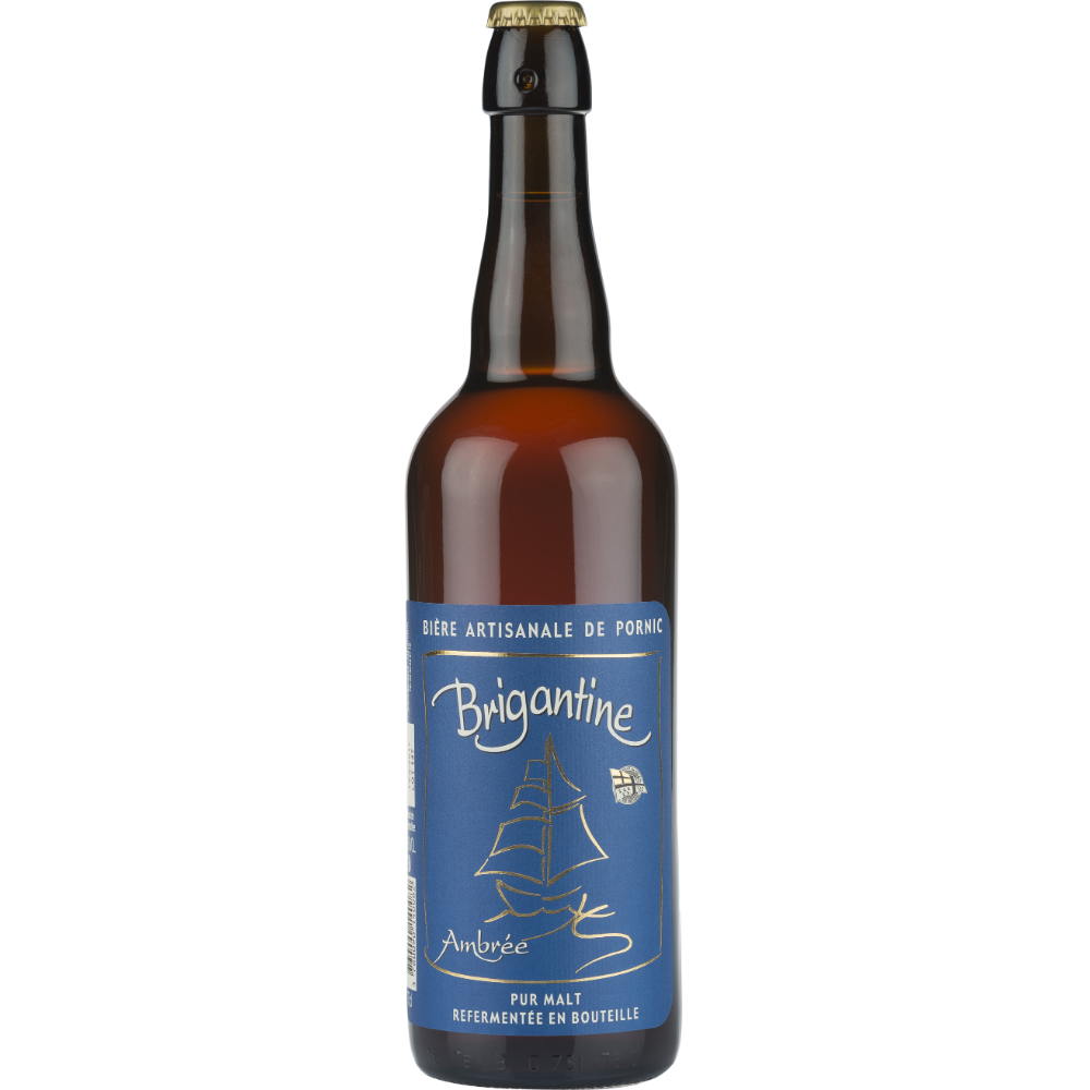 Brigantine ambrée bière artisanale, 6° (75 cl)