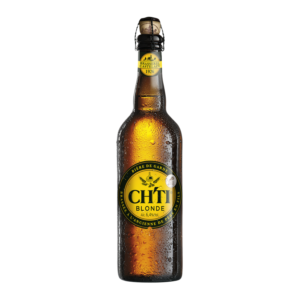 Ch'ti bière blonde, 6.4° (75 cl)