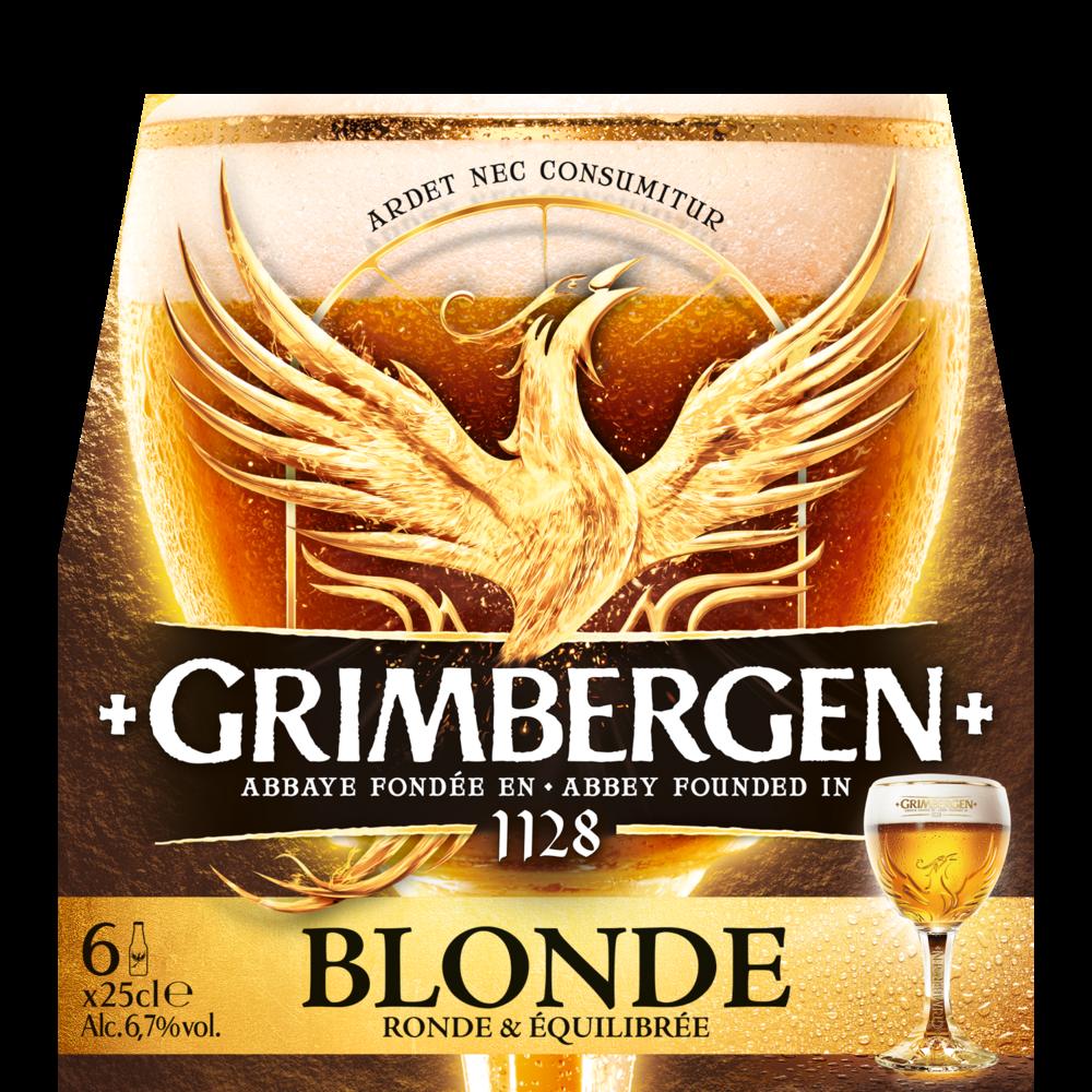 Bière blonde Grimbergen (6 x 25 cl)