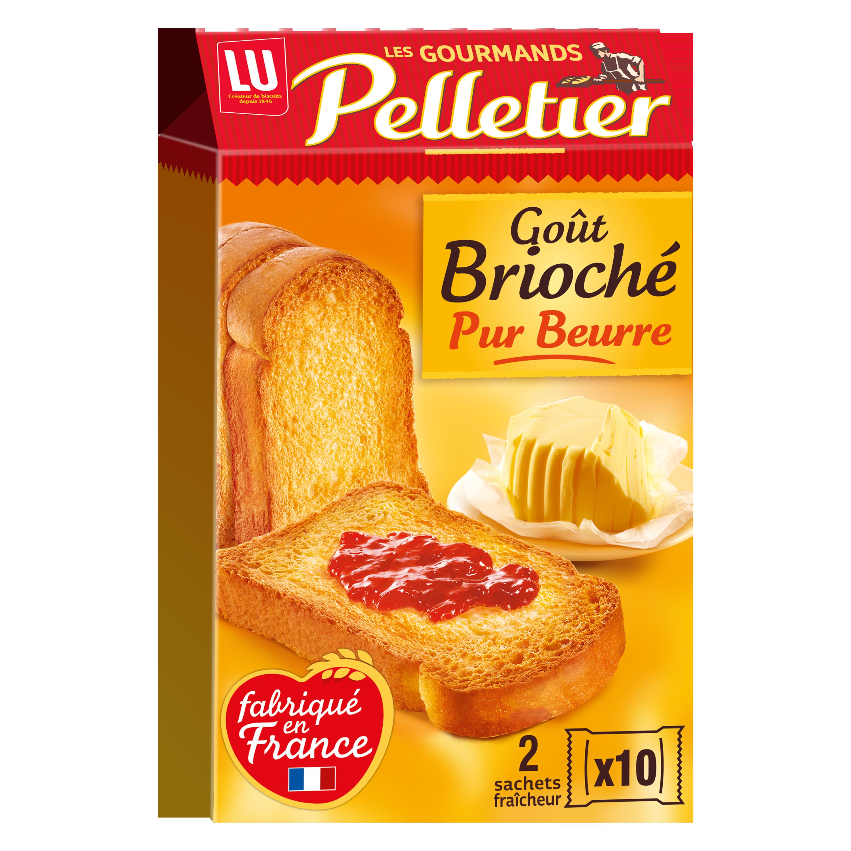 Biscottes briochées La Gourmande, Pelletier (20 tranches, 260 g)