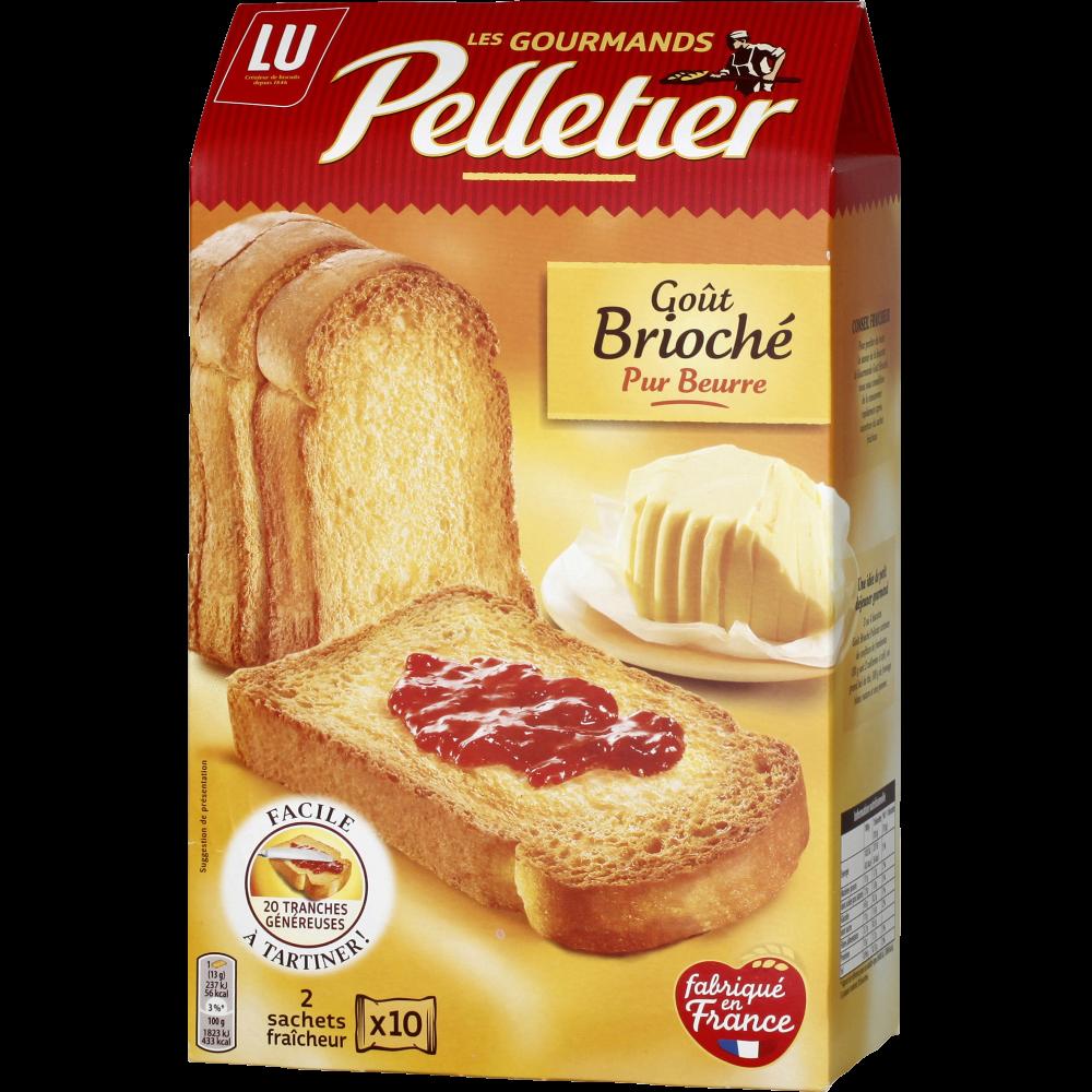 Biscottes briochées La Gourmande, Pelletier (260 g)