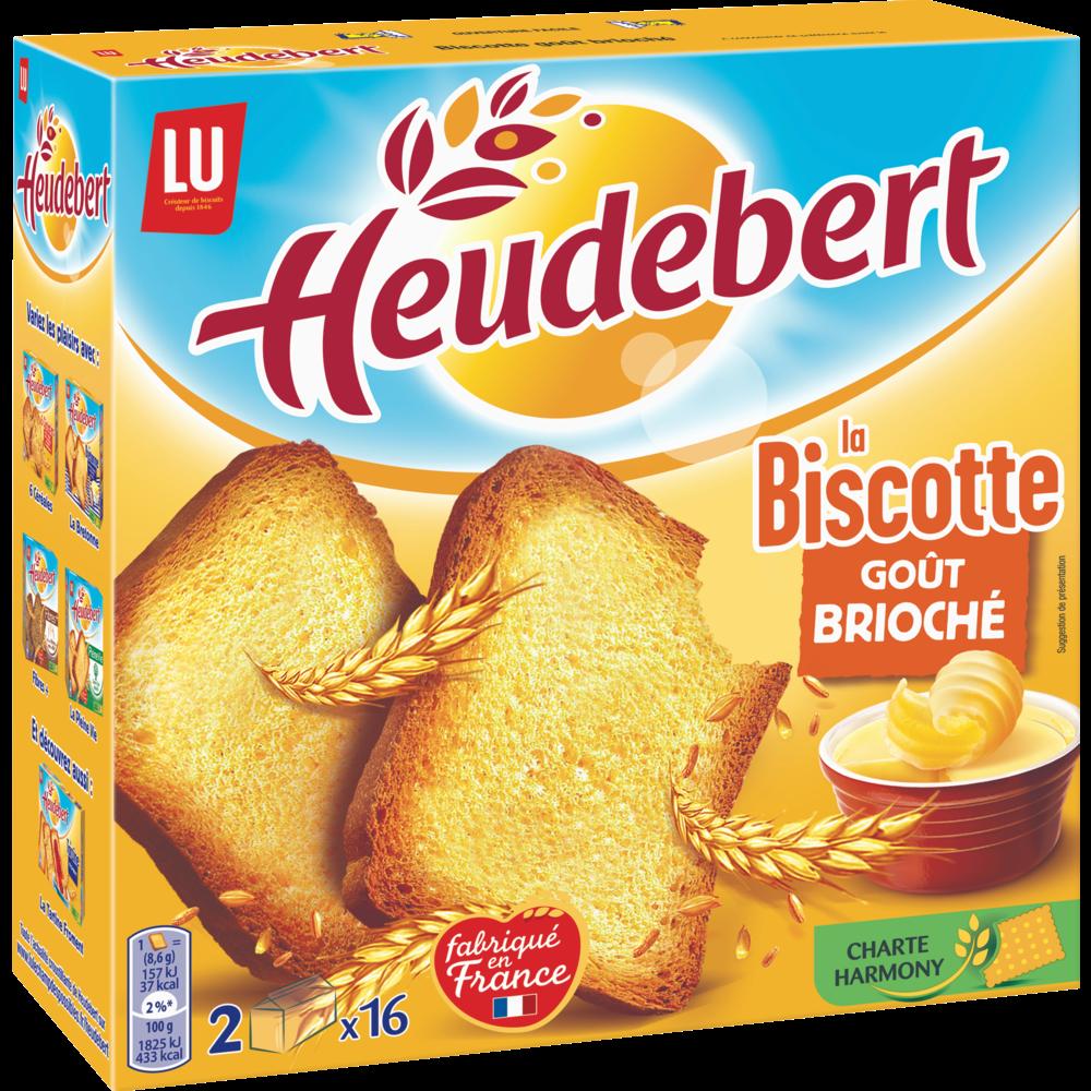 Biscottes goût brioché, Heudebert (290 g)