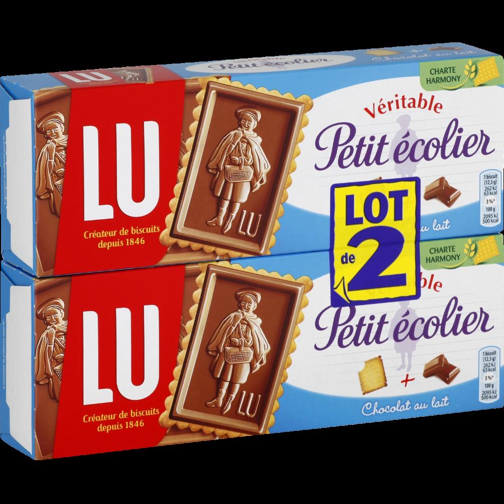 Petit écolier Chocolat au lait, Lu (2 x 150 g)