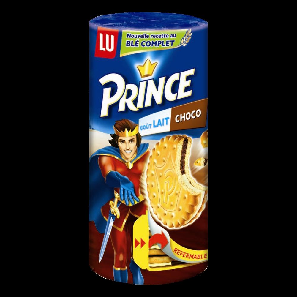 Biscuit Prince au lait et chocolat, Lu (300 g)