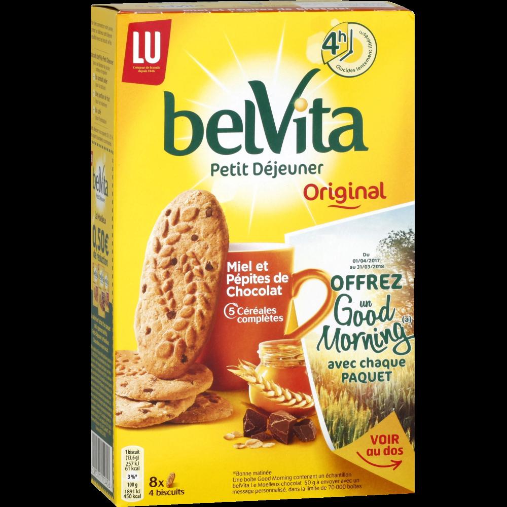 Belvita Petit déjeuner miel pépites de chocolat, Lu (435 g)