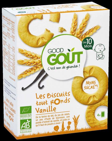 Biscuits tout ronds Vanille, Good Goût (4 x 20 g) - dès 10 mois