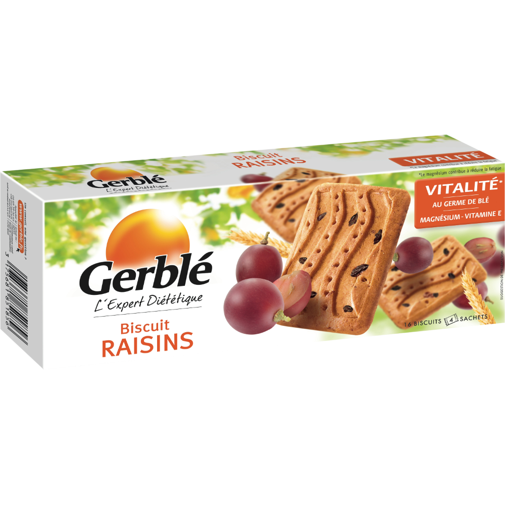 Biscuits aux raisins, Gerblé (270 g)