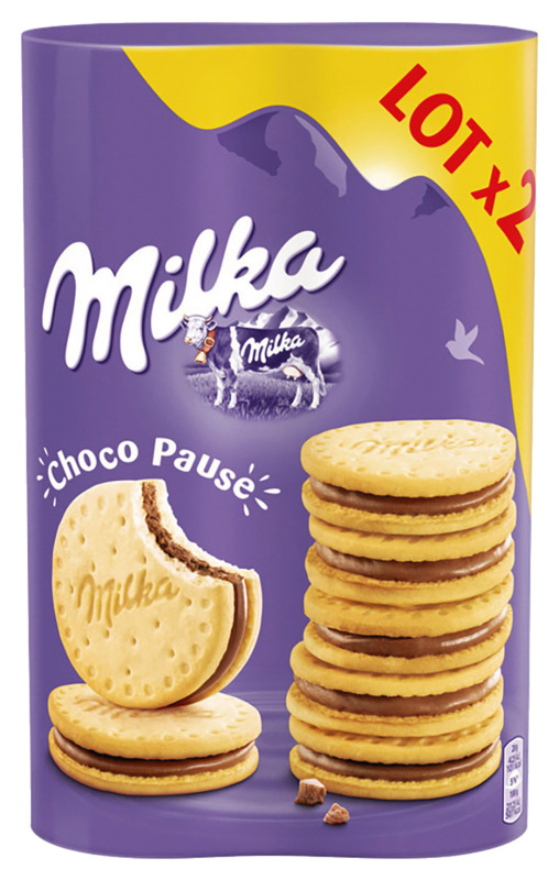 Biscuits Choco Pause, Milka LOT DE 2 / OFFRE SPECIALE (2 x 260 g)
